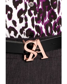 Studio Anneloes SA logo buckle leather belt