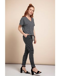 Studio Anneloes Upstairs zig zag trousers