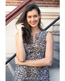 Studio Anneloes Caro sls leopard dress