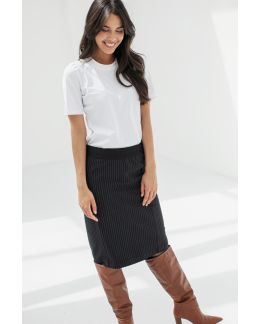 Studio Anneloes Simone pinstripe skirt