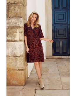 Tramontana Dress Wrap Ikat Print