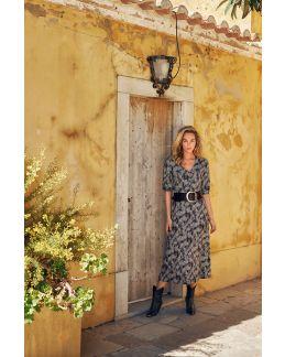 Tramontana Dress Midi Snake Dotted Print