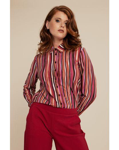Studio Anneloes Jet bookprint blouse